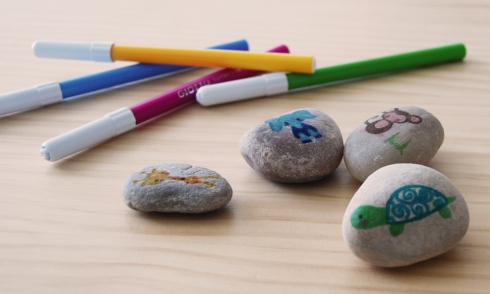 Animales en piedras