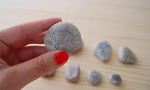 Dibujo realizado en piedra
