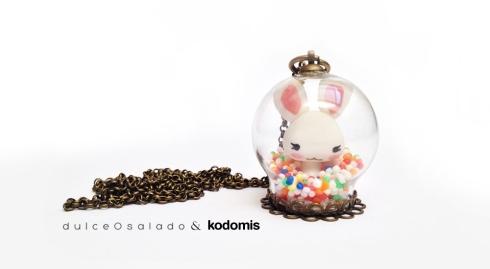 colgantes bola conejo dulceOsalado y Kodomis