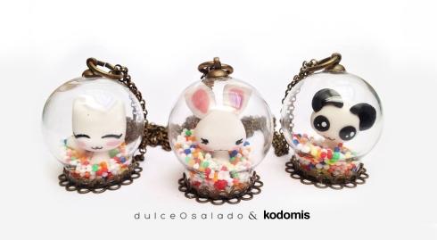 colgantes bola dulceOsalado y Kodomis