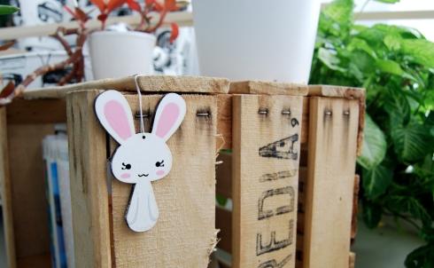 Kodomis DM madera Masukotto conejo pintado